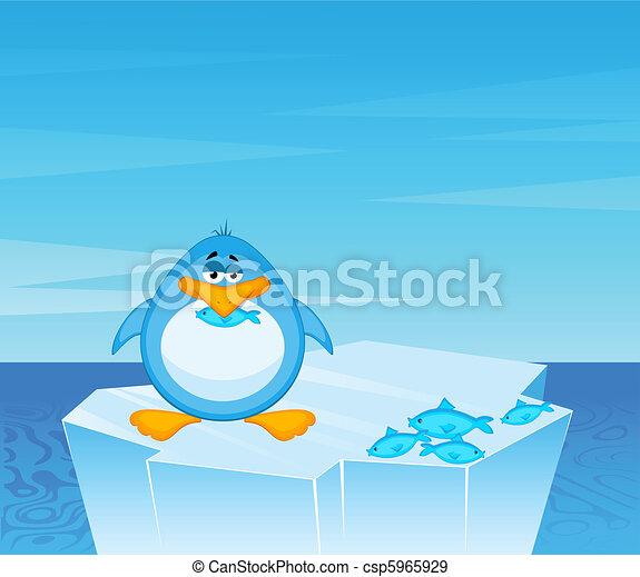 cartoon penguin  - csp5965929