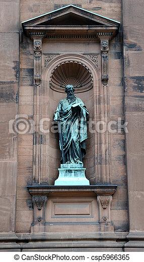 Saint Peter Statue outside the historic Saint Peter and Paul Basilica in Philadelphia, Pennyslvania - csp5966365