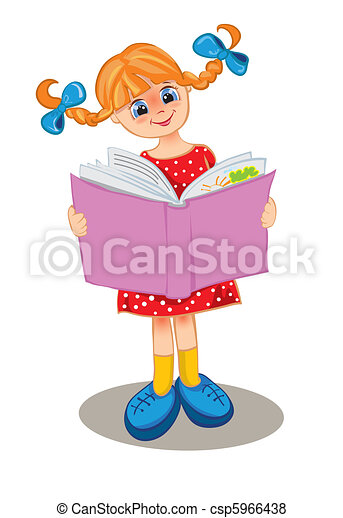 The girl reads the book - csp5966438
