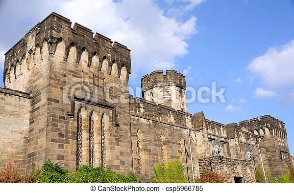 Outer Walls of Historic Eastern State Penitentiary in Philadelphia - csp5966785