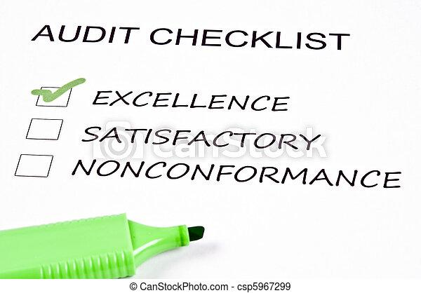 Audit checklist - csp5967299