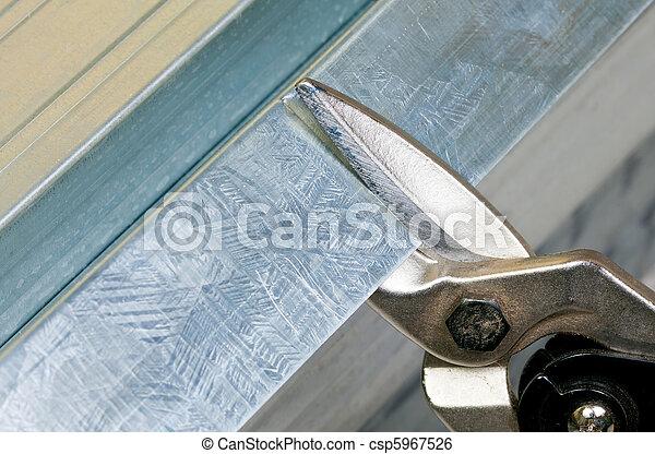 切, 金屬, 大頭釘 - csp5967526