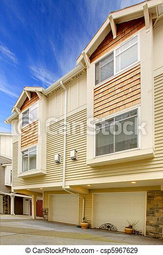 City townhouse exterior shot - csp5967629