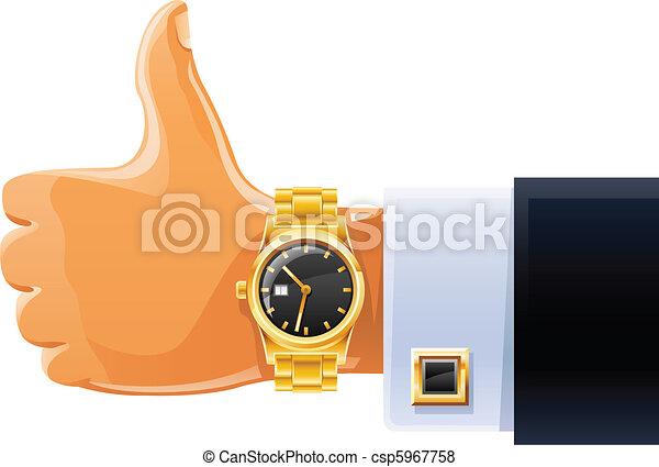 watch on hand - csp5967758