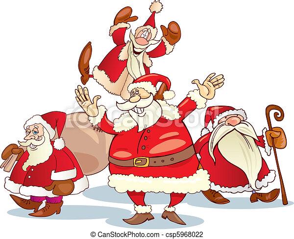 santa clauses group - csp5968022