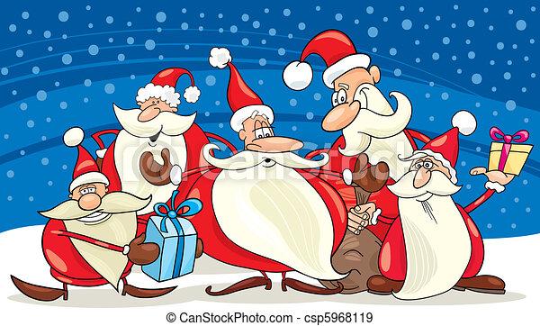 santa clauses group - csp5968119