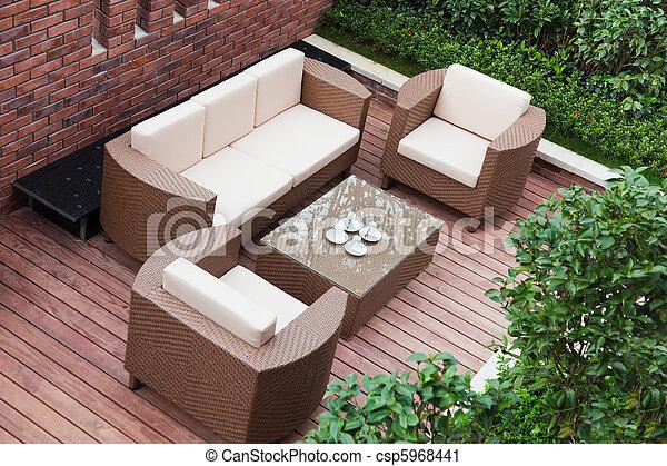 Home exterior patio - csp5968441