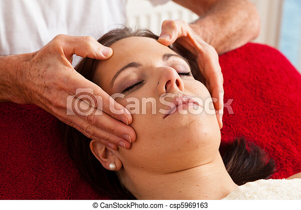 Rest and relaxation through massage - csp5969163