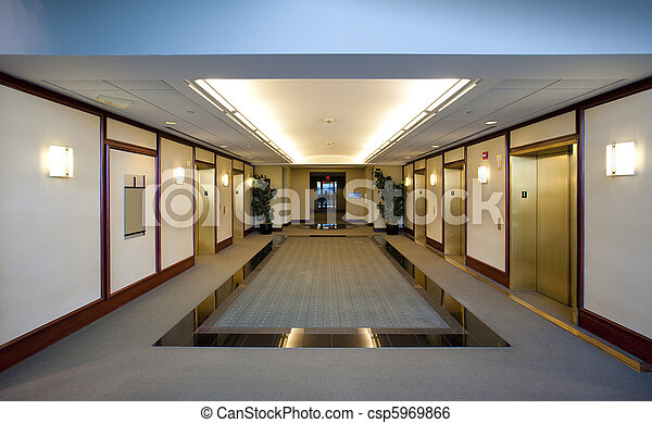 Elevators in office building - csp5969866