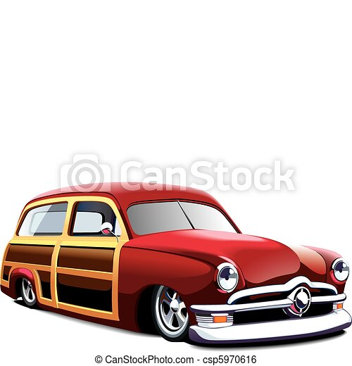 wooden body hot rod - csp5970616