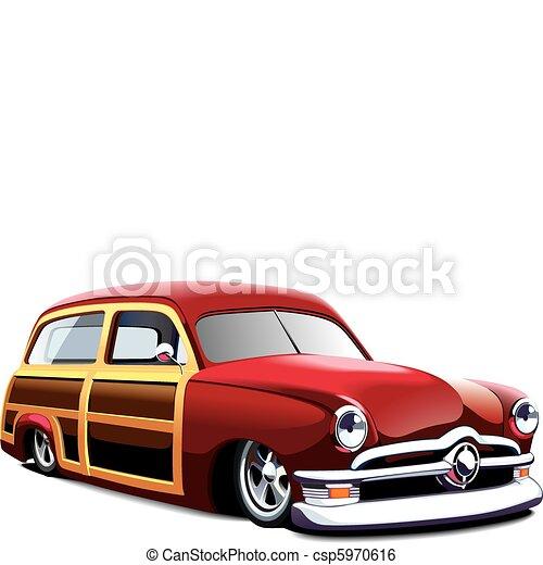 wooden body hot rod - csp5970616