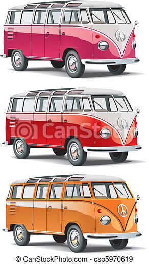 old-fashioned european van - csp5970619