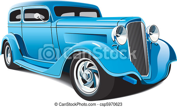 light blue hot rod - csp5970623