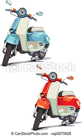 old-fashioned scooter - csp5970628