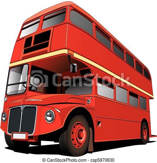 vektor clipart von bus london detailed vectorial bild. Black Bedroom Furniture Sets. Home Design Ideas