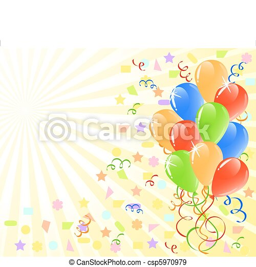 vector illustration of a bunch of ballons  with space for text. - csp5970979