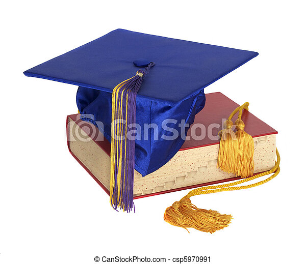 Graduation Hat and Honor Cord - csp5970991