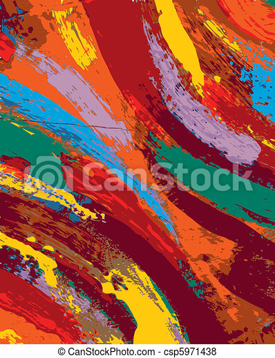abstract painting background - csp5971438