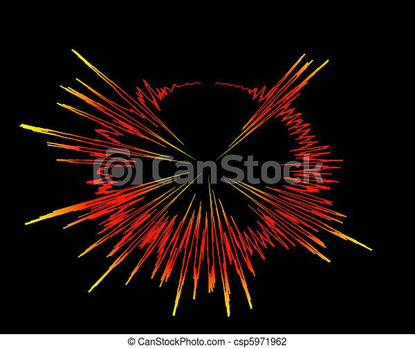 sound waves explosion - csp5971962