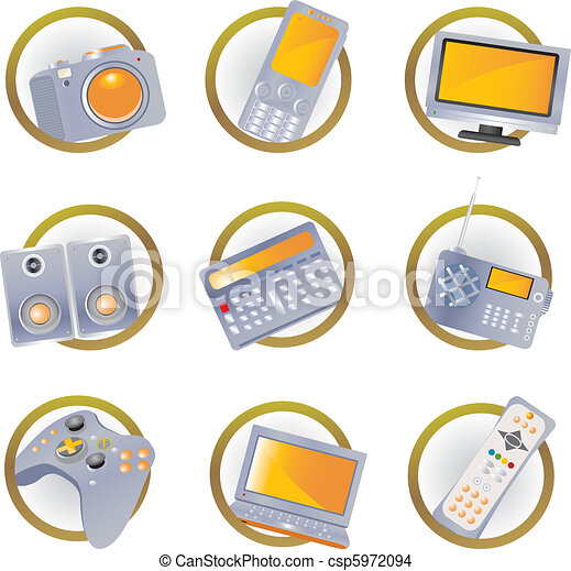 Hi-tech equipment icons - csp5972094