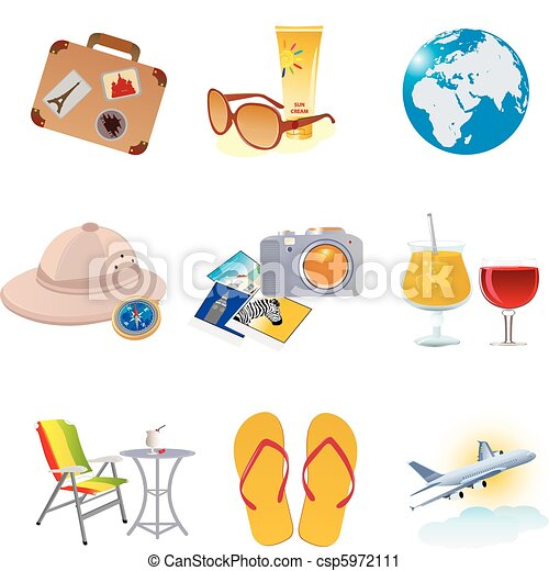 Tourism and vacation icons - csp5972111