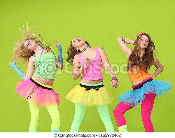 teens dancing at birthday party - csp5972462