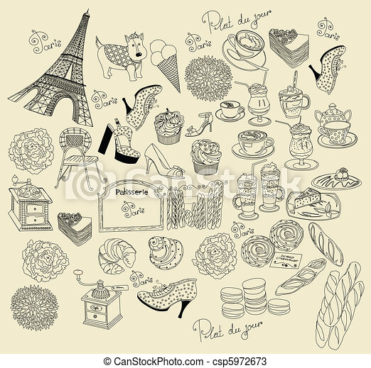 Collection symbols of Paris - csp5972673