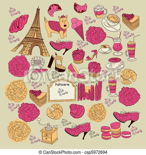 Collection symbols of Paris - csp5972694