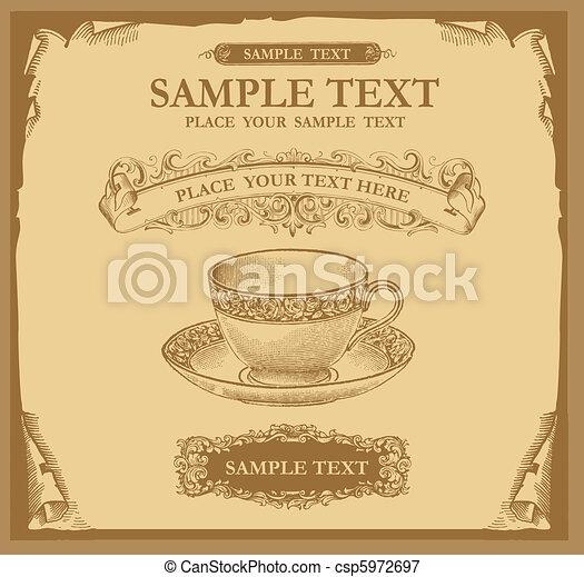 Retro design menu - csp5972697