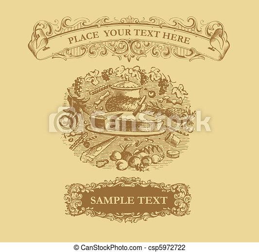 Vintage design menu - csp5972722