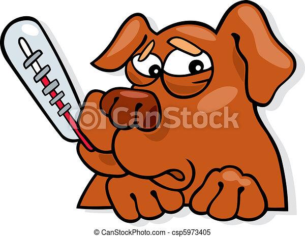 Ill dog - csp5973405