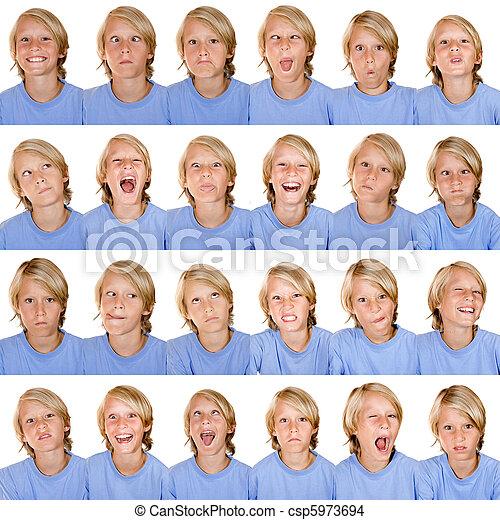 facial expressions - csp5973694