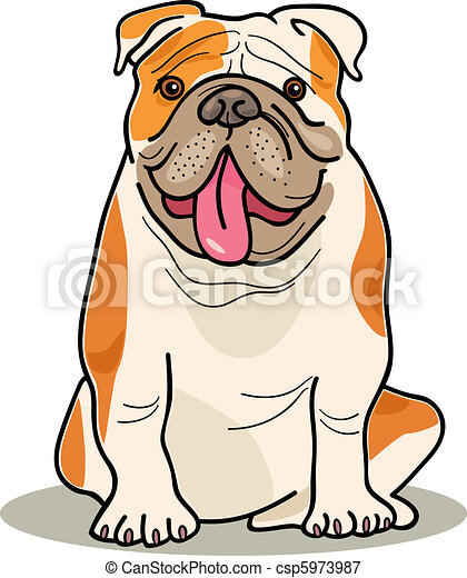 dog breeds: bulldog - csp5973987