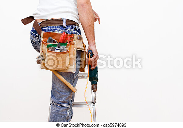 workman with tools - csp5974093