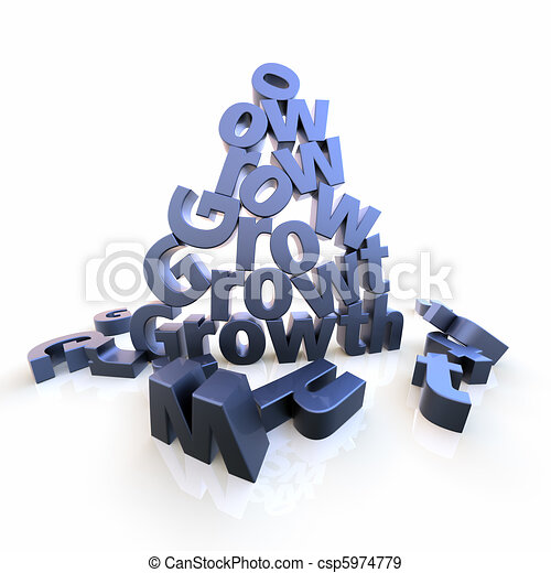 Growth pyramid with dropped letters - csp5974779