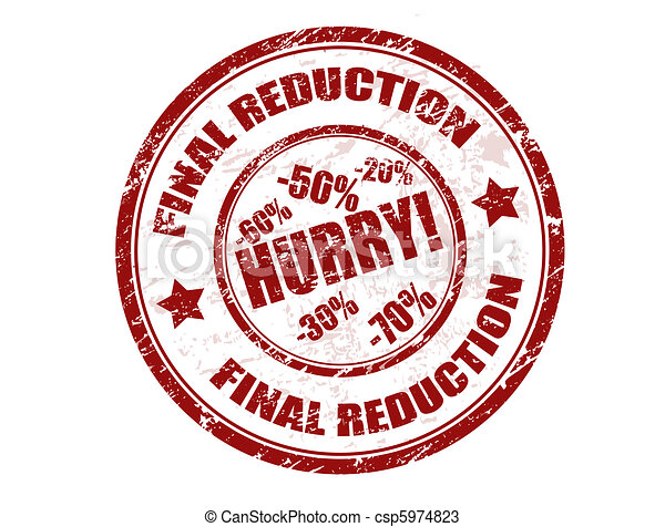 Final reduction stamp - csp5974823