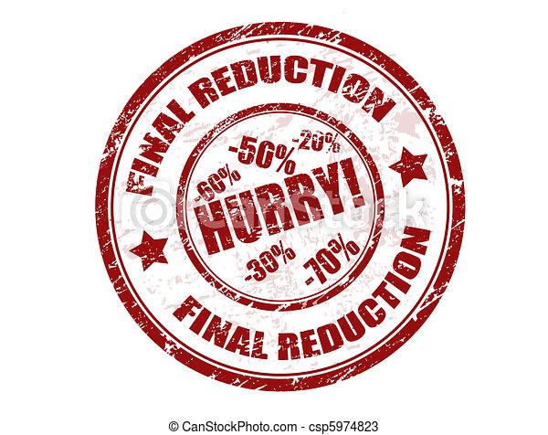 Final reduction stamp - csp5974823