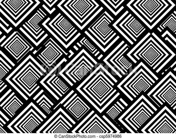 Illustration de papier peint noir blanc carr s formes r sum fond csp5974986 recherchez - Papier peint graphique noir et blanc ...
