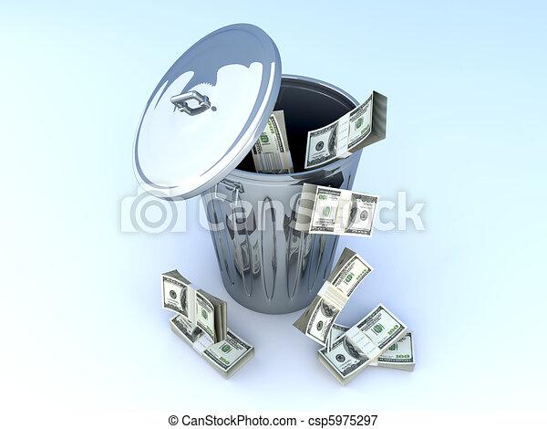 Dollar Trash - csp5975297