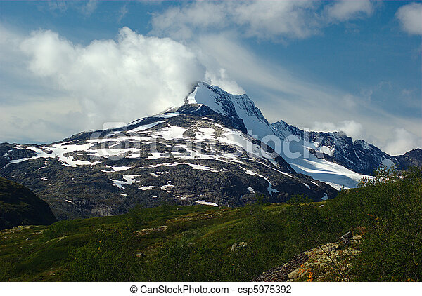 Mountain Summit in Jotunheimen National Park in Norway - csp5975392