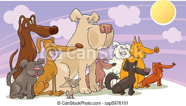 Sitting dogs - csp5976101