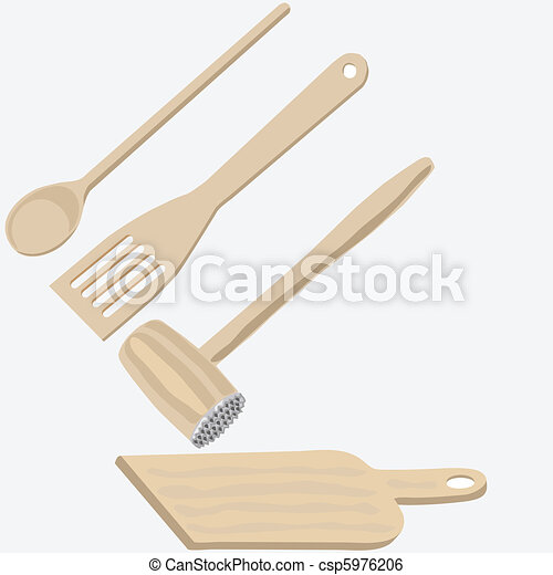 Wooden kitchen utensils - csp5976206