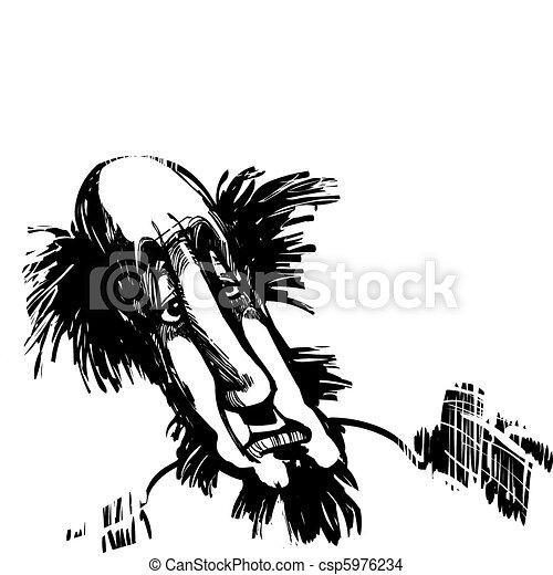Caricature of man - csp5976234