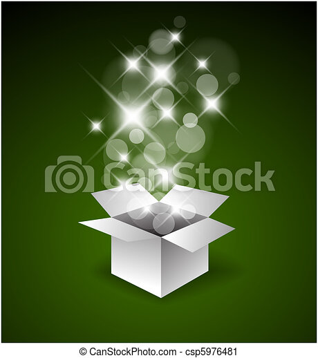 Magic gift box with a big surprise - csp5976481