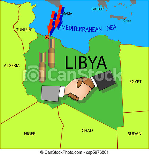 Stop military operations in Libya. - csp5976861