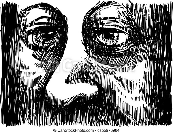Old Man Eyes - csp5976984