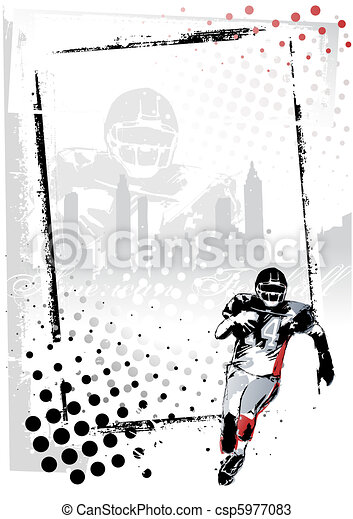 american football poster - csp5977083