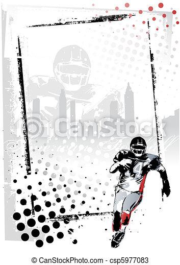 american football poster - csp5977083