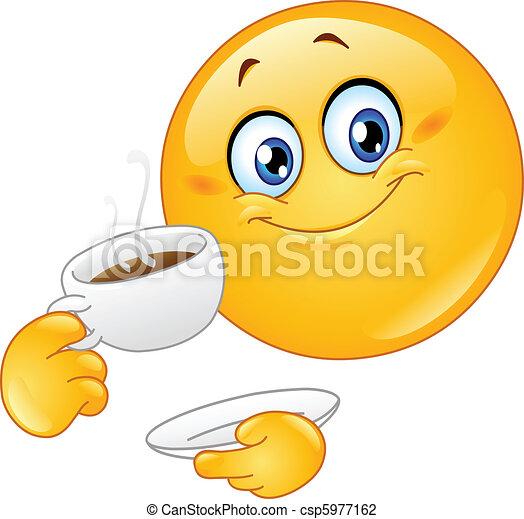 Coffee emoticon - csp5977162