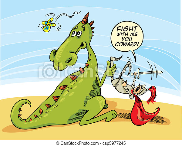 Dragon and Knight - csp5977245